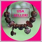 NEW! LOT of 11 Authentic Pandora BREAST CANCER AWARENESS (BCA) Beads/ Charms Set