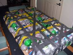 DIY Raft using recycled bottles