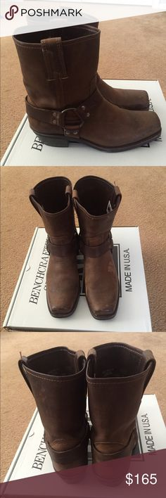 Frye Harness Boot Brown Leather Frye Harness Boot medium height Frye Shoes