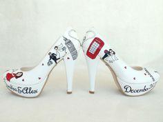 Wedding Shoes  Handpainted Customized  by KUKLAfashiondesign