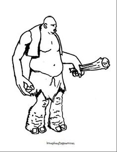 harry potter dungeon troll coloring page