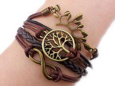 Amazon.com: Vintage Tree Root Bracelet, Hmxpls Wrist Bronze Coffee Rope Knit Punk Simple Charms Bangle Fashion Women Jewelry Zinc Alloy Multilayer Braided Bracelet Chain Bangle: Jewelry