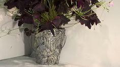 Pomysły plastyczne dla każdego, DiY - Joanna Wajdenfeld: Doniczka ze srebrnej koronki na szybko