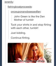 John Green is freaking awesome. (In case you don't know fishingboatproceeds is John Green) Best Of Tumblr, My Tumblr, Tumblr Posts, Tumblr Funny, We Are Bears, Jhon Green, John Green Books, The Fault In Our Stars, Thats The Way