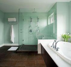 I like this color! Maybe with a pearl glaze?  Seafoam bathroom ideas | Categories: Custom Built Homes , Homeowner Tips , Wallmark SHOWCASE ...