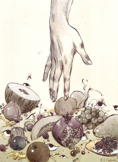 Jillian Tamaki, Goblin Market. #illustration, #poetry, #literature