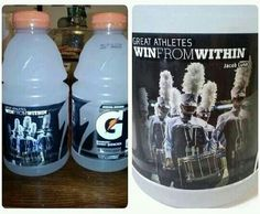 *does happy dance* I'm grinning like crazy rn. We're on a GATORADE BOTTLE!!!! I don't like Gatorade, but still. #fame