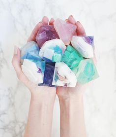 Soap DIY (Two Ways DIY Gemstone soapSoap (disambiguation) Soap is a surfactant cleaning compound used for personal or other cleaning. Soap may also refer to: Books And Tea, Diy Cadeau Noel, Diy Stockings, Natal Diy, Homemade Soap Recipes, Bath Recipes, Home Made Soap, Easy Diy Projects, Diy Projects You Can Sell