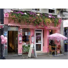 Pink store front #re lovely art