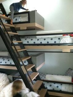 268 Best Bunk Rooms Images On Pinterest Bunk Beds Child Room And