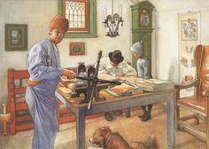 Carl Larsson - Where I Do My Etchings Catalog