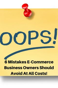 A prudently drawn up road map may be your path to success. Such a process would primarily include identifying key milestones to be achieved as well as key roadblocks to avoid. Here, we discuss the 6 common mistakes new e-commerce businesses make, and how to navigate around them. SAVE THIS PIN FOR LATER.