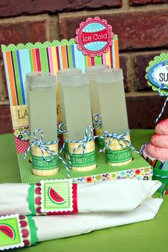 SRM Stickers - SRM Stickers - @Christine Ousley created these drink holders using SRM's TUBES and Birthday border stickers. FUN!