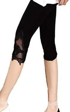 awesome Yoga Clothing For You Ladies Cotton-Modal Blend Capri Leggings with Lace Check more at http://fitnessequipment.4mytop.com/yoga-clothing-for-you-ladies-cotton-modal-blend-capri-leggings-with-lace-2/