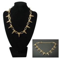 [¥14.66] Fashionable Rivet Style Alloy Necklace Neck Jewelry for Ladies Girls