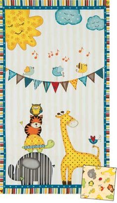 SUNSHINE ZOO QUILT KIT.  One of the cutest quilts I've seen yet!