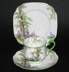 Royal Albert Greenwood Teacup Trio