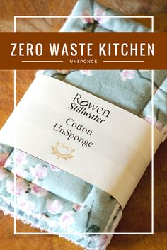 UnSponges are the perfect place to start in a zero waste / eco-friendly / plastic free kitchen. By Rowen Stillwater.