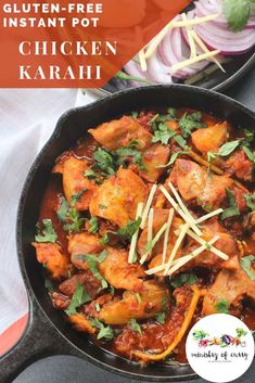 instant pot chicken recipes Chicken Karahi or Chicken Kadai is a spicy, homestyle chicken curry with fragrant spices and fresh ginger. Chicken Karahi, Chicken Recipes, Ip Chicken, Chicken Strips, Spicy Recipes, Curry Recipes, Indian Food Recipes, Ethnic Recipes, Amigurumi