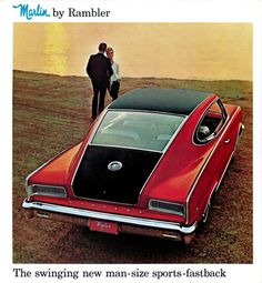 The swinging new man-size sports-fastback, Marlin by Rambler, 1965