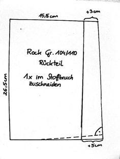 """herzekleid: Der """"Kirschrock"""" oder: Rock mit Taschen: Anleitung, Teil 1"""