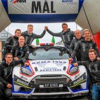 Larsen og Eriksen vant sekundstrid og  totalvant Norges vanskeligste NM-runde Rally, Circuit