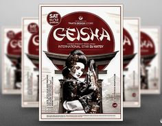 """Check out new work on my @Behance portfolio: """"Geisha Night Flyer Template V5"""" http://be.net/gallery/38345659/Geisha-Night-Flyer-Template-V5"""