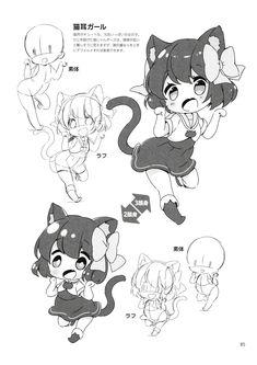 How to draw Chibi Poses, Poses Manga, Chibi Sketch, Anime Sketch, Chibi Drawing, Kawaii Chibi, Cute Chibi, Manga Drawing Tutorials, Art Tutorials