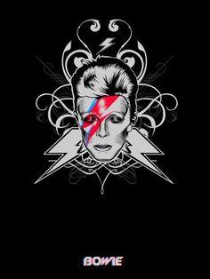 My future Tatto ❤️ David Bowie David Bowie Poster, David Bowie Art, David Bowie Tattoo, Glam Rock, The Bowie, The Thin White Duke, Major Tom, Ziggy Stardust, Rock Legends