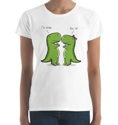 """FREE shipping on 3+ items! Shop """"T-Rex Trying To Hug - Funny Dinosaur T-shirt, Cute Dino Tee For Lovers """". Give this tee as a gift with unique design to someone you love and value or buy one for yourself.   t-rex t-shirts 