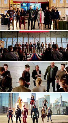 Super Squad! #LegendsofTomorrow #Season2 #2x07 - Crossover Part 3! <<< Justice League! Justice League! Justice League!