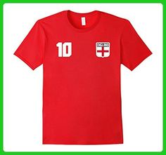 Mens ENGLAND T-shirt English Tee Retro Soccer Football Camisa Small Red - Sports shirts (*Amazon Partner-Link)