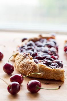 CHERRY VANILLA RICOTTA CROSTATA | Easy cherry pie recipe! This free form cherry pie has a layer of creamy vanilla ricotta underneath fresh cherries, wrapped up in a simple flaky crust! #recipe #summer #cherry #pie #ricotta #dessert | ColeyCooks.com