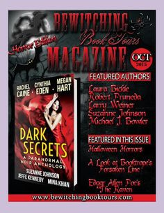 """October 2015 Bewitching Book Tours Magazine Vol. #38  Bewitching Book Tours Magazine is back with a Halloween Horror Issue full of Bewitching spotlights, excerpts, reviews, recipes, and Halloween fun. Learn how to make Halloween a little more """"green"""". Read about the connection between vampires and Halloween…and read Edgar Allen Poe's The Raven.   We have special features from Booktrope's Forsaken Horror Line and ARe's Wicked Tales.   Author features include: How Horror Stories Saved A…"""