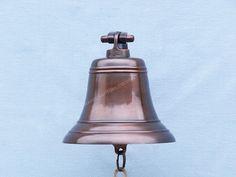 Hampton Nautical Antiqued Copper Hanging Ships Bell Nautical Home Decoration, 9 inch Decorative Bells, Decorative Items, Nautical Home, Room Themes, Antique Copper, Decoration, Solid Brass, The Hamptons, Dekoration
