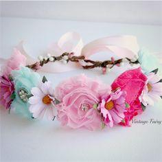 Fairy blossom flower crown By Vintage Fairy   Vintage Fairy   madeit.com.au