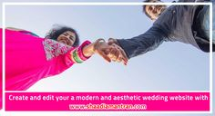 Create and edit your a modern and aesthetic wedding website with www.shaadiamantran.com
