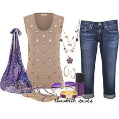 Purple accessories, created by elizabethdawes on Polyvore