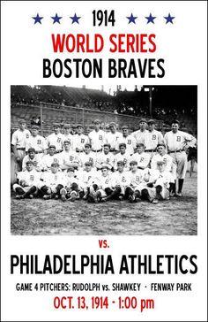 Oct. 13, 1914– InMajor League Baseball'sWorld Series, theBoston Bravesdefeat thePhiladelphia Athletics, 4 games to 0, atFenway ParkinBoston, completing the first World Seriessweepin history.