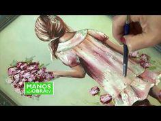 (2) Pintar cuadros - Pintar Nena con flores - Luciana Zappa - YouTube