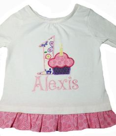 What little girl wouldn't LOVE one of these? Girls Appliqued Birthday Shirt, $29.99