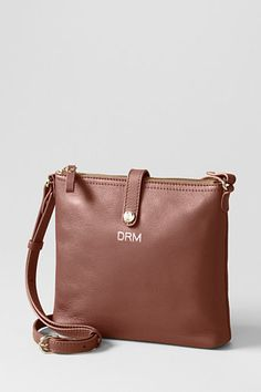 Land's End: Women's Landmark Weston Crossbody Bag The strap drop is from the center hole. Bag is a slim 1 wide, long, and 8 tall. Spring Handbags, Winter Headbands, Crossbody Bag, Tote Bag, Cute Purses, Winter Accessories, Lands End, Shopping Bag, Monogram
