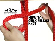 Riding Warehouse crew member, Natalie, teaches how to tie a quick-release knot. Especially useful for tying horses, this knot is easy to learn and provides a. Horse Camp, My Horse, How To Ride A Horse, Quick Release Knot, Arte Equina, Horse Information, Horse Magazine, Horse Care Tips, Horse Facts