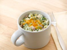 Cheese and Broccoli Egg Whites Mug. You just need a lot of egg whites.