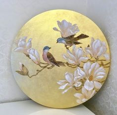 Flower Art Drawing, Gold Leaf Art, Pottery Painting, Claude Monet, Bird Art, Painting Inspiration, Watercolor Paintings, Art Drawings, Canvas Art