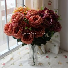 Wholesale Smoking Pipes - Buy Beautiful 13 Forks/Bunch Single Super Large Rose Peony Stem Bouquet Artificial Branches Silk Flowers Home Wedding Decorations, $22.83 | DHgate.com