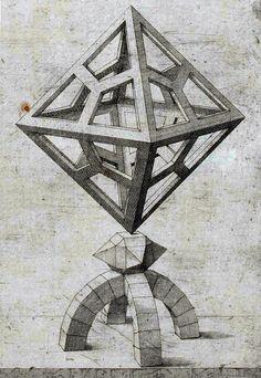 Jost Amman - Geometrische Perspektivkonstruktion (c. 1567)-Tattoo Inspiration
