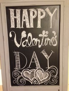 My Life With A Cherry On Top: Valentine's Day Chalkboard Idea