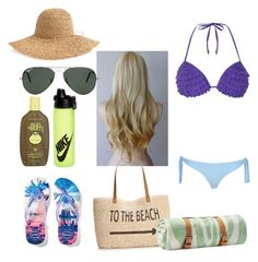 """""""Untitled #163"""" by tomboygamers on Polyvore featuring Dorothy Perkins, River Island, Ray-Ban, AERIN, Havaianas, Style & Co., Maslin & Co., Sun Bum and NIKE"""