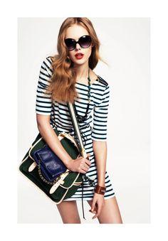 stripes and a killer bag